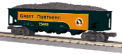 MTH30-75429 Great Northern 4 Bay Hopper with Load