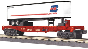 MTH30-76266 BNSF Flat Car with Trailer