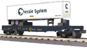MTH30-76463 Chessie Flat with Trailer