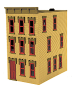 MTH30-90377 3 Story Town House (Lighted)