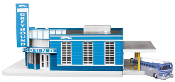 MTH30-9040 Greyhound Bus Station (Lighted)