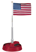MTH30-9074 American Flag with Flag Pole