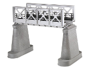 MTH40-1102 O Scale Girder Bridge (Silver) with Piers