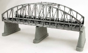 MTH40-1107 Real Trax 2 Track Steel Arch Bridge (Silver)