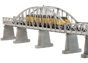 MTH40-1101 Steel Arch Bridge (Silver) with Blinking Light