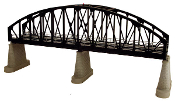 MTH40-1105 Steel Arch Bridge (Black) with Blinking Light