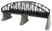 MTH40-1111 2 Track Steel Arch Bridge (Black) with Blinking Light