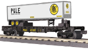 MTH30-76515 Pittsburgh & Lake Erie Flat with Trailer