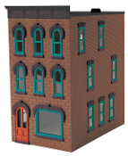 MTH30-90372 Brown Stone 3 Story Town House