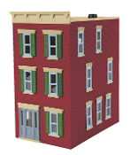 MTH30-90375 Main Street Brick 3 Story Town House
