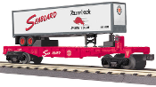 MTH30-76491 Seaboard Flat Car with Trailer