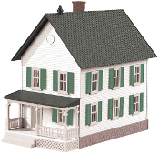 MTH30-90119 White/Green Row House