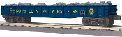 MTH30-72158 Norfolk Western Gondola with Junk Load