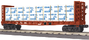 MTH30-76613 Conrail Flat Car with Bulkheads and Lumber Load