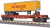MTH30-76633 Milwaukee Flat with 40' Trailer