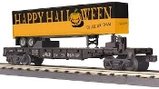 MTH30-76655 Halloween Flat Car with 40' Trailer