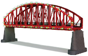 MTH40-1115 Christmas Arch Brige with Operating Christmas Lights