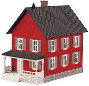 MTH30-90552 Row House Red with Gray Shutters