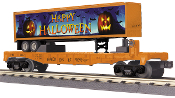 MTH30-76686 Halloween Flat Car with Trailer