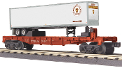 MTH30-76610 Pennsylvania Flat Car with 40' Trailer