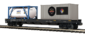 MTH20-95296 Norfolk Southern Flat Car w/Tank and 20' Container
