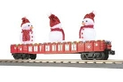 MTH30-72210 Snowmen Red Gondola with with LED's