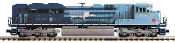 MTH20-21160-1 Missouri Pacific SD70ACE with Proto 3.0