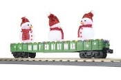 MTH30-72211 Christmas Gondola with Snowmen and LED's (Green)