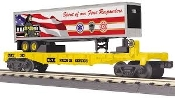 30-76832 CSX First Responders Flat Car with 40' Trailer